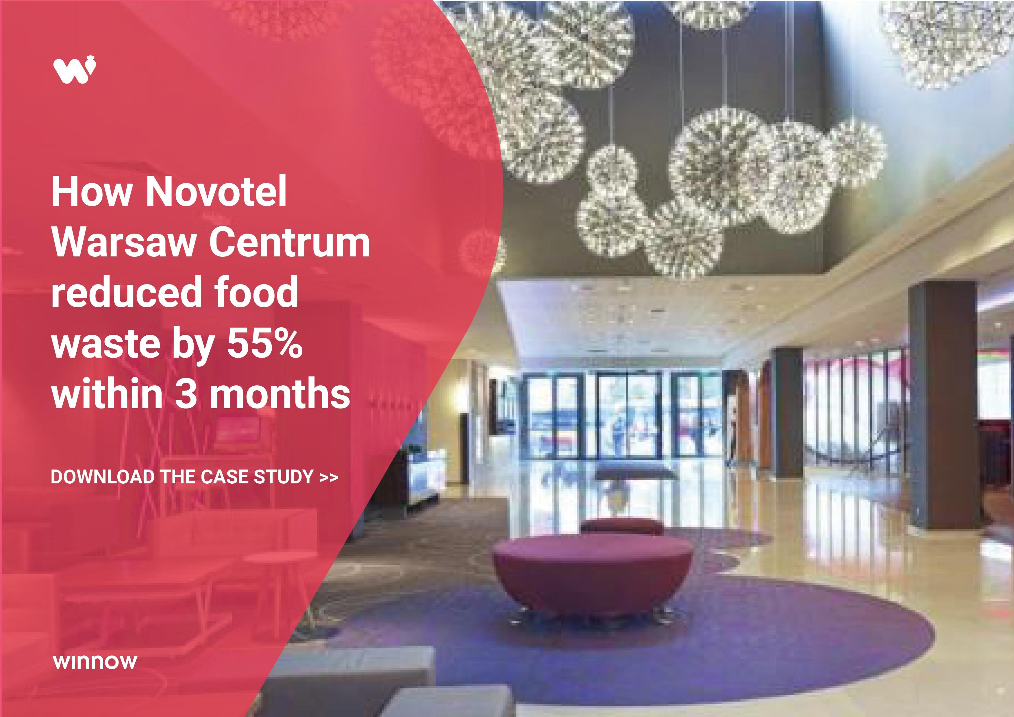Novotel Warsaw Centrum reduced food waste by 55%