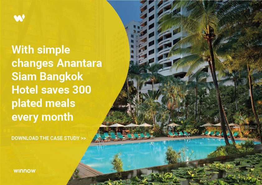 Anantara Siam Bangkok reduces food waste and saves 300 meals per month